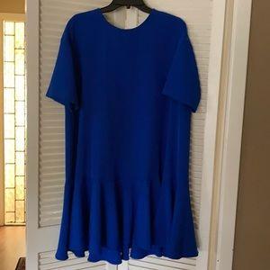 Adriana Papell royal blue swing dress